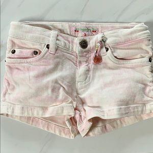 Bonpoint girls shorts sz 3 pink tie dye denim